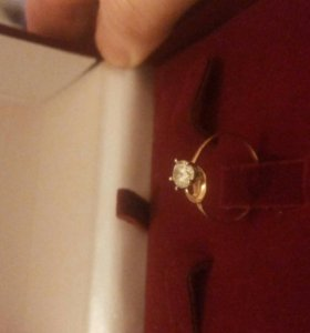 Колечка золото с фианитом!!!