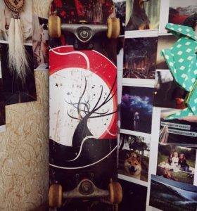 Скейт HELLO WOOD