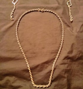 Серебряный комплект (серьги,цепь 45 см)