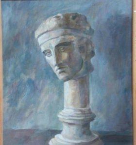 Картина живопись гипсовая голова