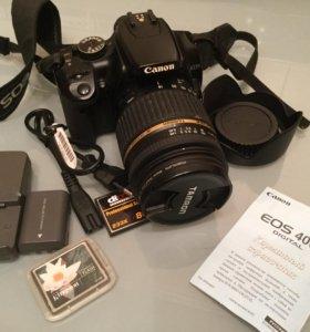 Зеркальный фотоаппарат canon eos400d