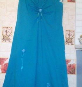 Платье-сарафан х/б с собственной отделкой 54-56р.