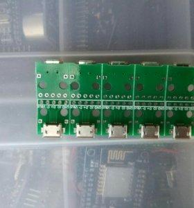 Гнездо Micro USB 5шт