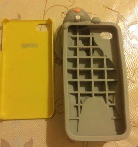 2 чехла на iPhone 4S