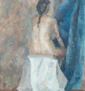 Картина живопись. Обнаженная девушка спиной