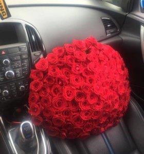 Букет из ярко красных роз с доставкой