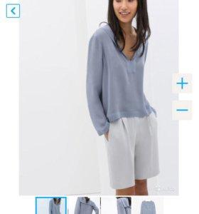 Шелковая рубашка и шорты Zara Studio