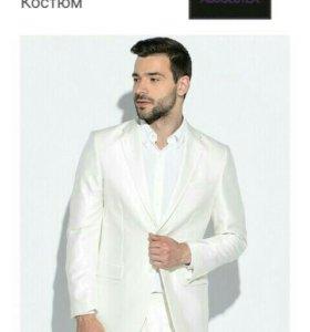 Новый мужской пиджак (молочный,р.54,рост180)