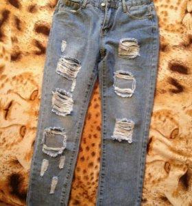 В наличии джинсы бойфренд