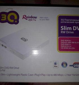 3Q Портативный оптический привод Slim DVD RW Drive