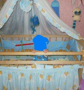 Кроватка и коляска