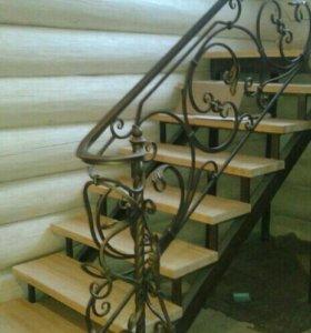 Лестницы кованые, прямые и винтовые.
