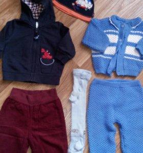 Кофта,штаны,шапка,костюм,пр 60-68