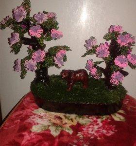 Поделка дерево из бисера