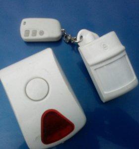 GSM сигнализация,датчик,пульт,ревун.