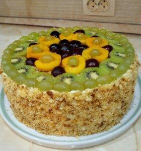 Торт ягодный без мастики