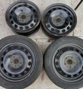 Оригинальные штампованные диски на VW R 16 ET
