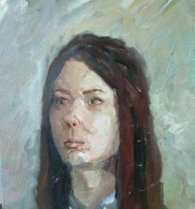 Картина живопись портрет девушки