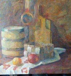 Картина живопись деревенский натюрморт