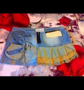 р-46-48 юбка джинсовая
