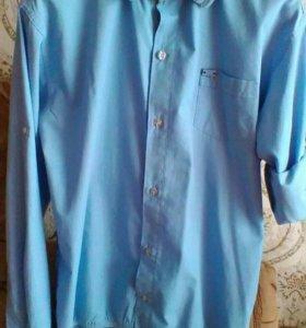 Рубашка мужская р.46 б/у в отличном состоянии