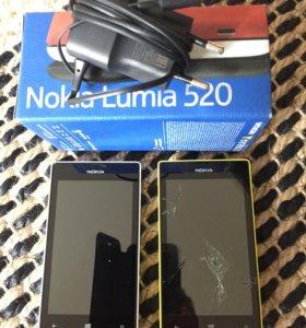 Nokia lumia 520  2 шт
