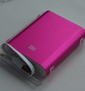 PowerBank Mi 10400 зарядка розовая