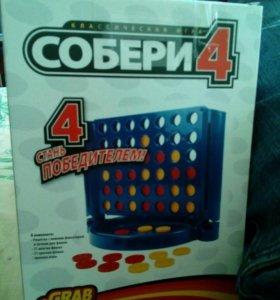 Настольная Логическая игра Собери 4