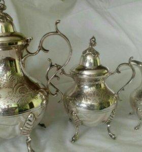 Антикварный сервиз серебро