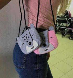 Фетровые детские сумочки