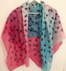 Новый шарф-палантин с фламинго