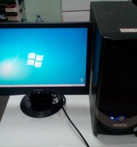 """Домашний компьютер 2 ядра, с монитором 19"""""""