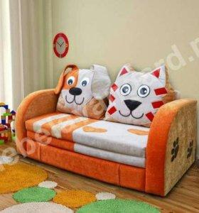 Диван детский Кот и Пёс