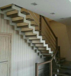 Лестницы открытые для дома.
