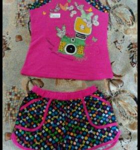 Новая майка и шорты (пижама)