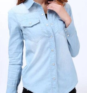 Джинсовая рубашка 46 размер