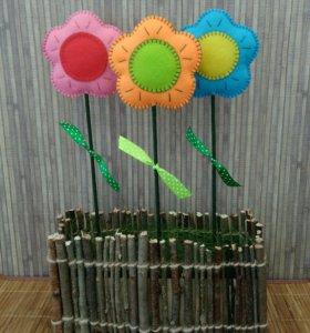 Цветы из фетра. Ручная работа
