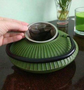 Заварочный чайник с ситом чугунный