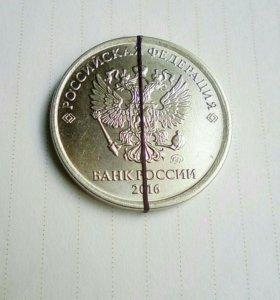 1 рубль поворот 30°