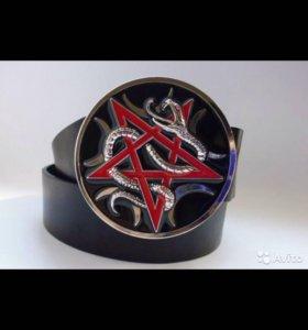 666 пентаграмма сатана Люцифер сет звезда ремень