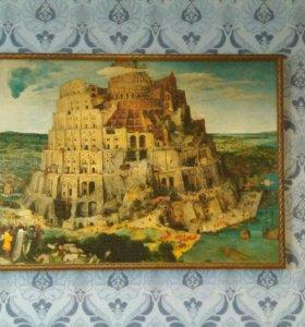Картина из 5000 кусочков puzzle Вавилонская башня