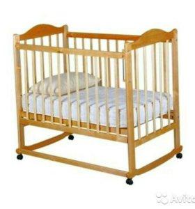 Детская кроватка колесо-качалка