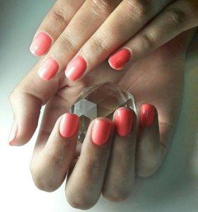 Покрытие ногтей гель лаком💅