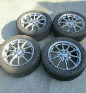 Комплект летних колёс на литье 215 55 17 Б/П по РФ