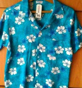 Новая мужская летняя рубашка.52р хлопок