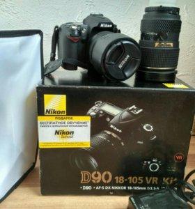 Nikon D90 + аксессуары