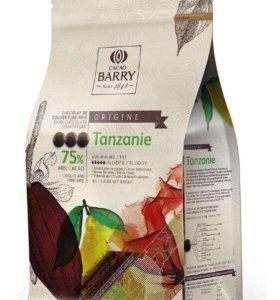 ШОКОЛАД КУВЕРТЮР ORIGINE TANZANIE 75%, CACAO BARRY