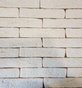 Декор. камень. Старый кирпич (белый)