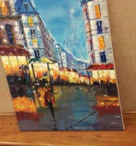 "Картина ""Париж после дождя"""