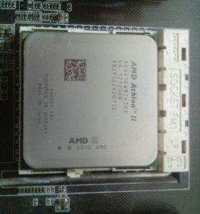 Материнская плата + 4-х ядерный процессор